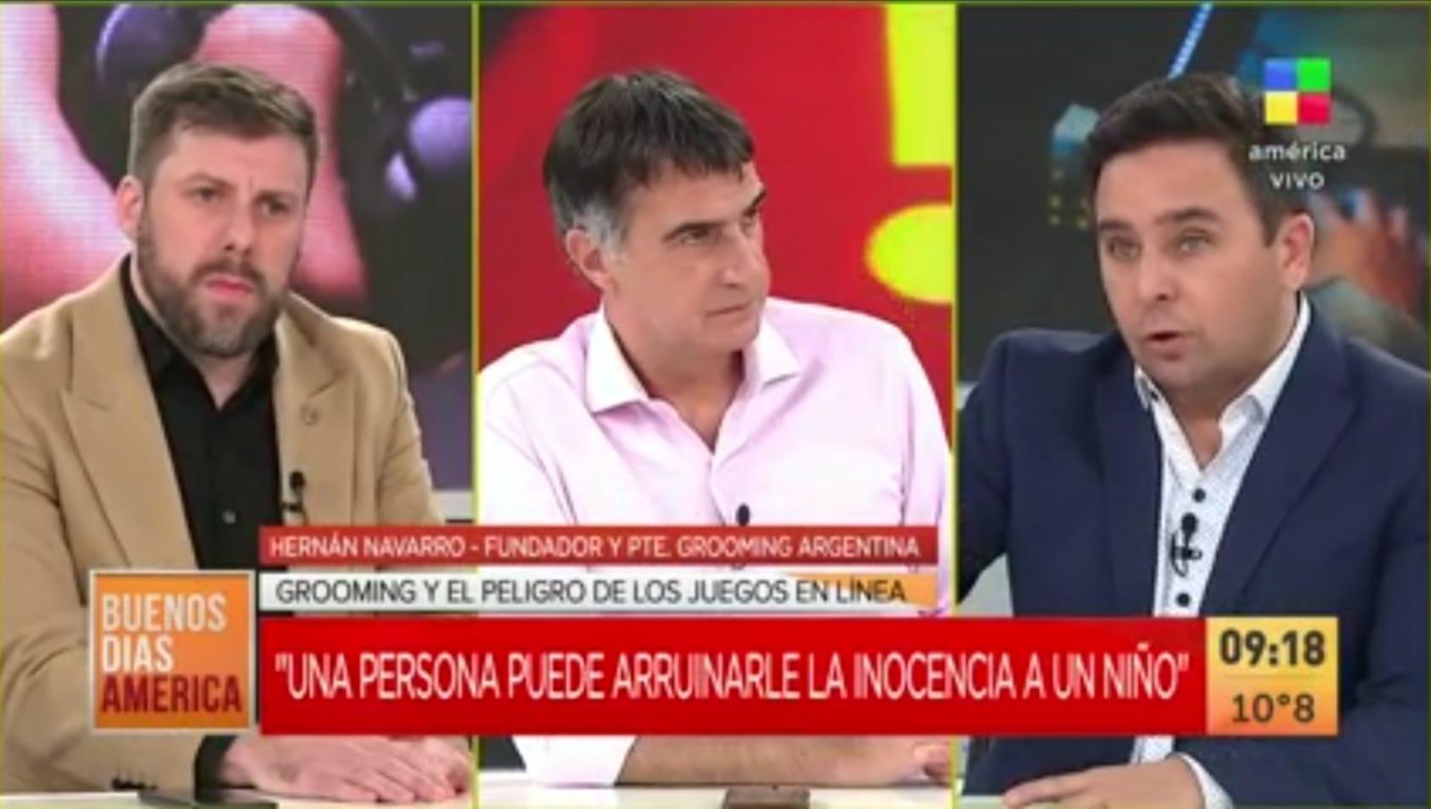 El presidente de Grooming Argentina dialogó con América Televisión